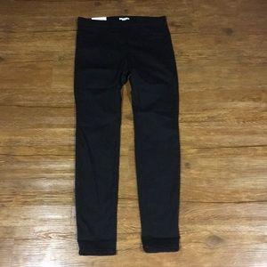 Super stretch skinny elastic waist black pants